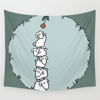 sheep Wall Tapestries featuring Sheep by materndesign