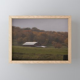 Fall Barn Scene Framed Mini Art Print