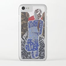 New York Blues Clear iPhone Case