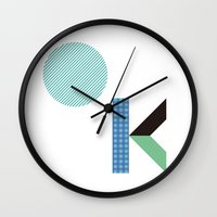 kim sy ok Wall Clocks featuring OK by .....