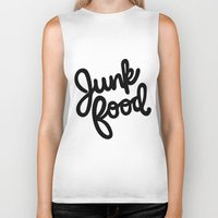 junk food Biker Tanks featuring Junk Food by mellanid