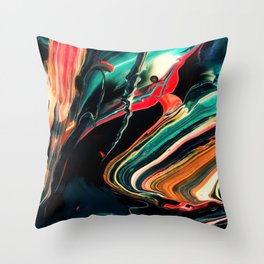 ABSTRACT COLORFUL PAINTING II-A Throw Pillow