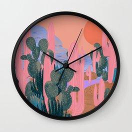 Cactus landschap Wall Clock