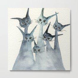 Ashland Whimsical Cats Metal Print