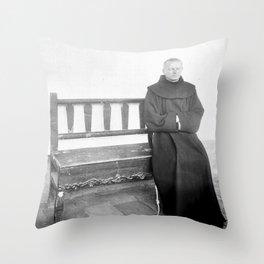 Father Superior of Mission Santa Barbara 1906 Throw Pillow