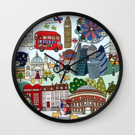 The Queen's London Day Out Wall Clock