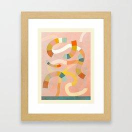 world full of rainbows abstract Framed Art Print