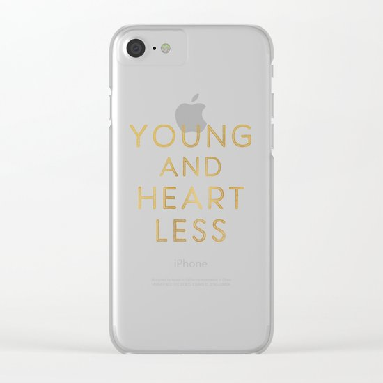 Heartless Clear iPhone Case
