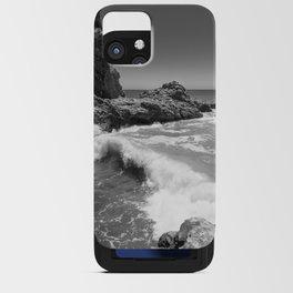 Waves crash along Rancho Palos Verdes coastline iPhone Card Case