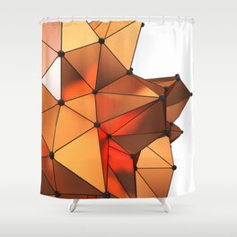 Abstract geometric reds Shower Curtain