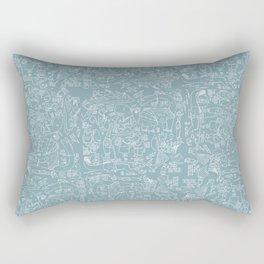 Animals anticipating Rectangular Pillow