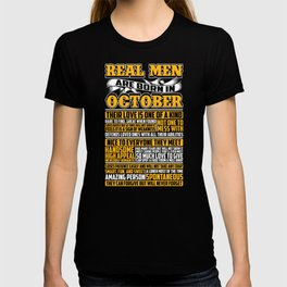 Real Men Are Born In October T-shirt