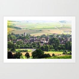 Bourgogne - Chablis Art Print