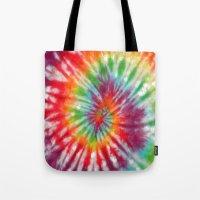 tye dye Tote Bags featuring Tye Dye My Heart by AmorFati