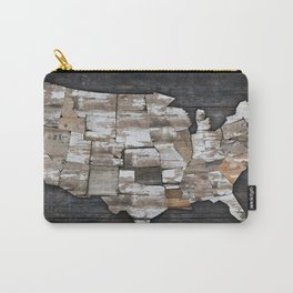 USA States Map - White Carry-All Pouch
