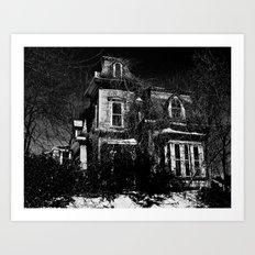 The local creepy house Art Print