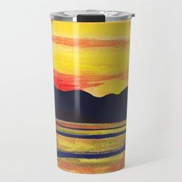 Salish Sea Sunset Travel Mug