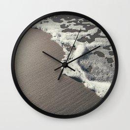 Seafoam beach - travel photography print - the netherlands Wall Clock