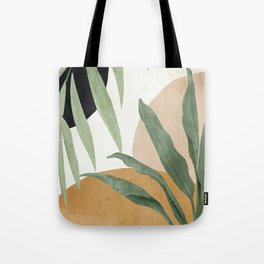 Abstract Art Tropical Leaves 4 Tote Bag