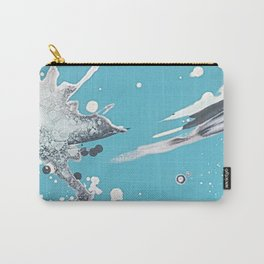 Blue skies of grey - made with unicorn dust by Natasha Dahdaleh Carry-All Pouch