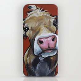 Cow art, Cute colorful cow art iPhone Skin