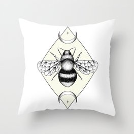 Bee Confident Throw Pillow