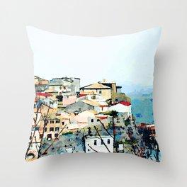 Catanzaro: view of the historic center Throw Pillow