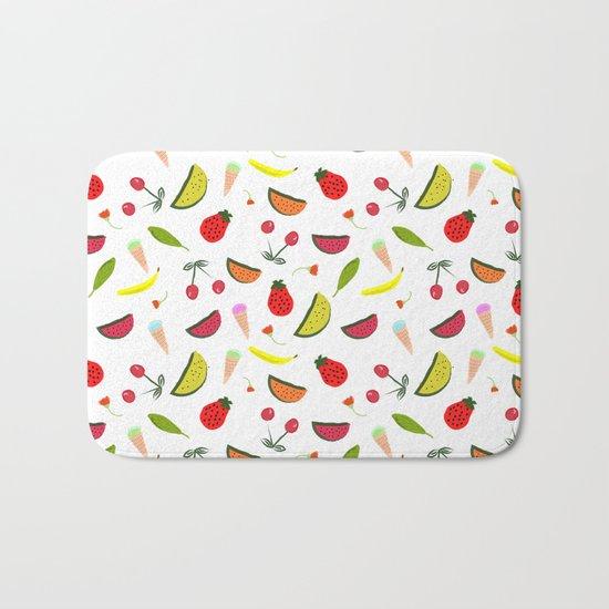 Vegan Goodies Pattern Bath Mat