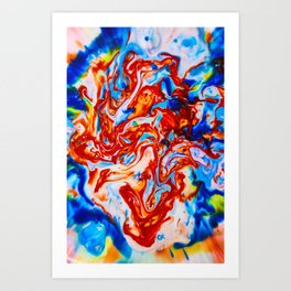Milkblot No. 10 Art Print