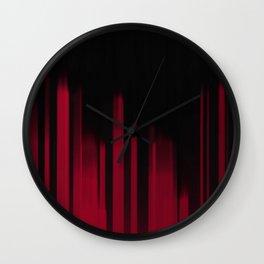 Red Streak Wall Clock