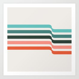 red + blue line pattern | elliott bryan | Art Print