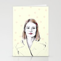 tenenbaum Stationery Cards featuring Margot Tenenbaum by Fausta Miezytė
