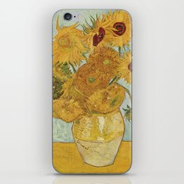 Vase with Twelve Sunflowers, Van Gogh iPhone Skin