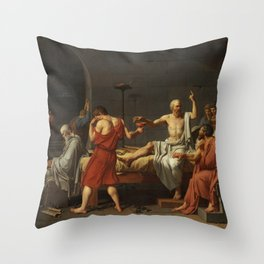 Death of Socrates by Jacques-Louis David Throw Pillow