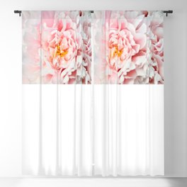 Peony Flower Photography, Pink Peony Floral Art Print Nursery Decor A happy life - Peonies 2 Blackout Curtain