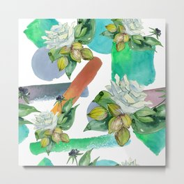 Floral Bouquet in Contemporary and Modern Designs Metal Print