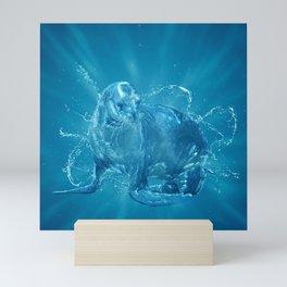 Abstract water South American sea lion Mini Art Print