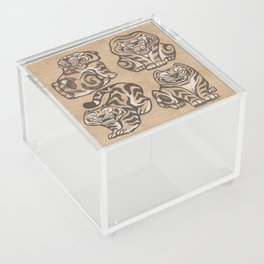 Stone Tigers Acrylic Box