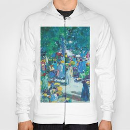 African American Masterpiece, Sudan, African Marketplace portrait painting by Jacques Majorelle Hoody