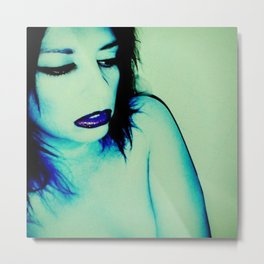 It Was All Electric Blue Metal Print