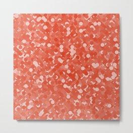 Tangerine Tango Polka Dot Bubbles Metal Print