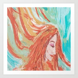 Firey Art Print