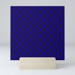Scottish Fabric High res Blue Mini Art Print