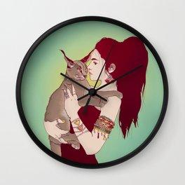 Wildcat Lady Wall Clock