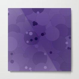 Gentian Violet Bubble Dot Color Accent Metal Print