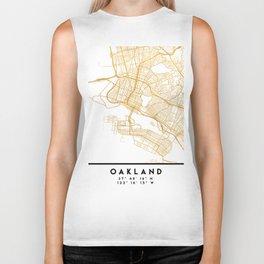 OAKLAND CALIFORNIA CITY STREET MAP ART Biker Tank