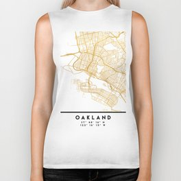 OAKLAND CALIFORNIA CITY STREET MAP ART Biker Tank