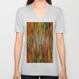 Abstract Flames Unisex V-Neck