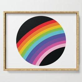 Circular Rainbow Serving Tray