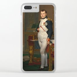 Jacques Louis David - The Emperor Napoleon In His Study At The Tuileries Clear iPhone Case